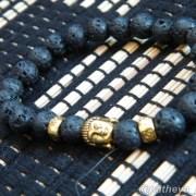 Detail of Lava Stone Bracelet