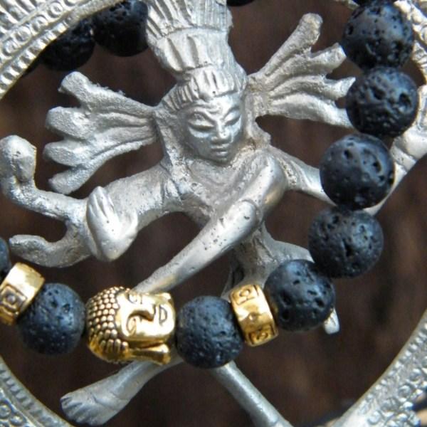 Lava Stone Buddha Bracelet