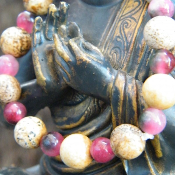 Pink and Brown Semiprecious Gems