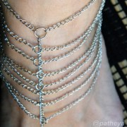 8 silver strands