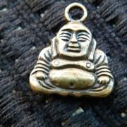 Bronze Buddha charm 2cm