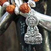 Meditating Buddha charm