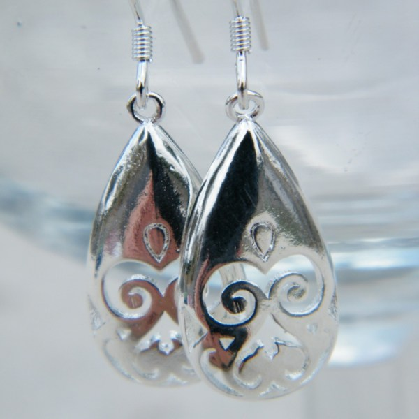 Silver Plated Drops