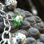 faceted green beads