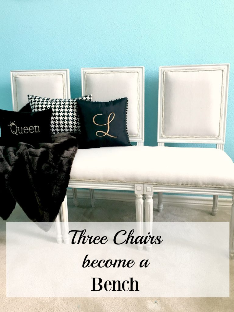 Three Chairs Become a Bench