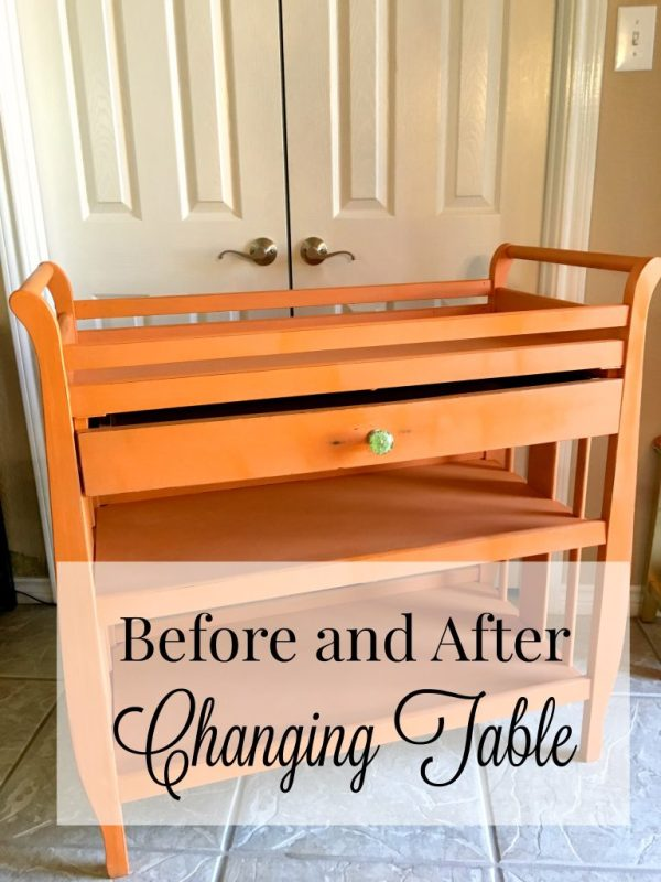 Before And After Changing Table Patina And Paint