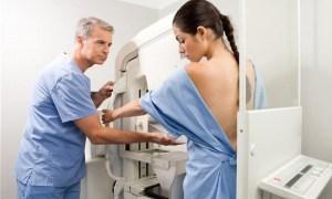 BK6ANJ Preparing for a mammography