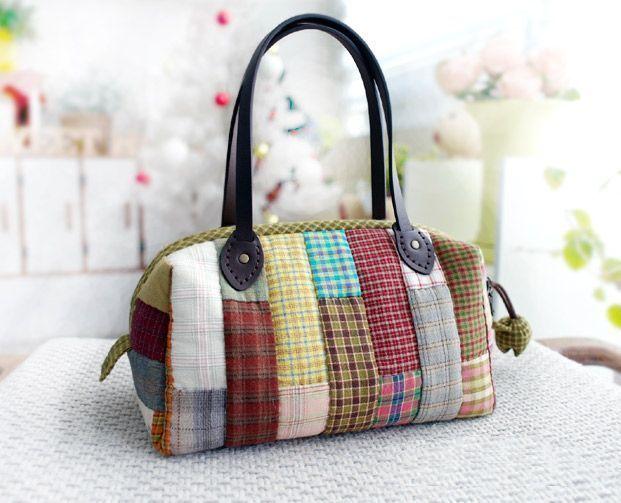 Diy para hacer un bolso patchwork diy patronesmil - Hacer bolsos de tela paso a paso ...