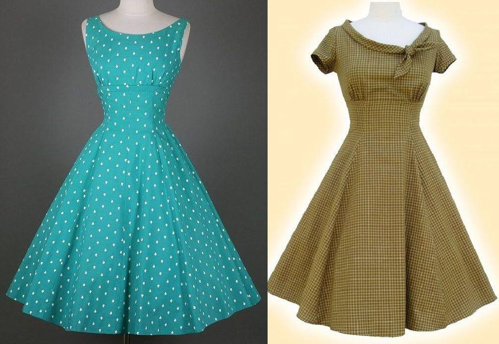 Vestido Vintage con corte