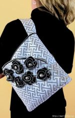 DIY de bolso elegante con flores de cremalleras