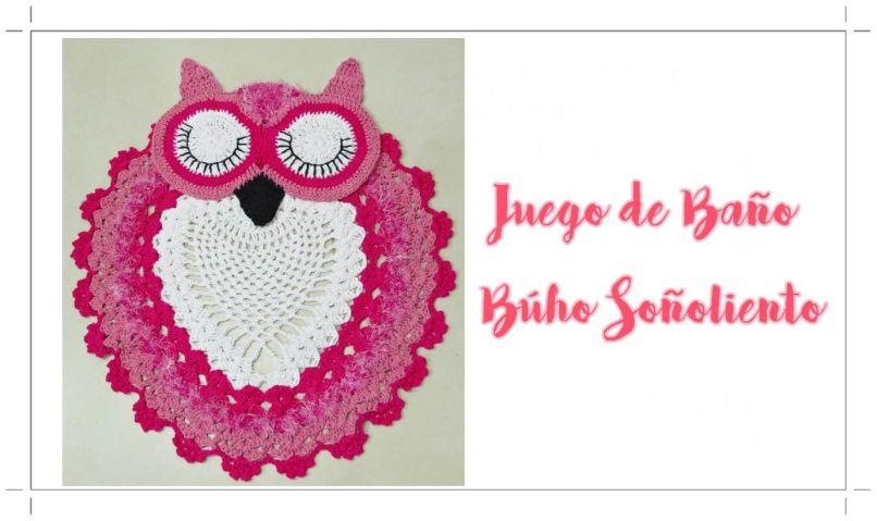 Set De Baño Tejido En Crochet Paso A Paso:Juego de baño a crochet de Búho dormilón
