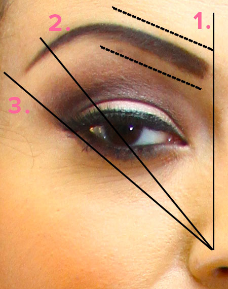 the three points to create a perfect brow