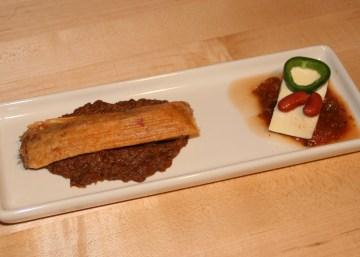 Tamales and venison chili