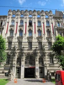 Art Nouveau (Jugendstil) District in Riga, Latvia