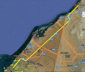 Dubai to RAK -- four 'countries' in one day!