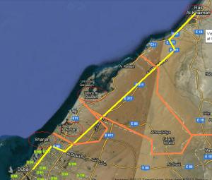 Dubai to RAK -- four 'countries' in one day!