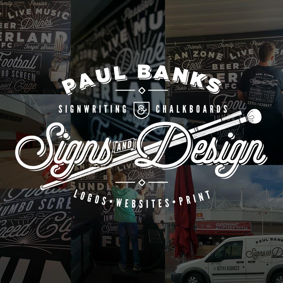 Paul Banks Signwriting and Design Logo Chalkboard Wall Overlay