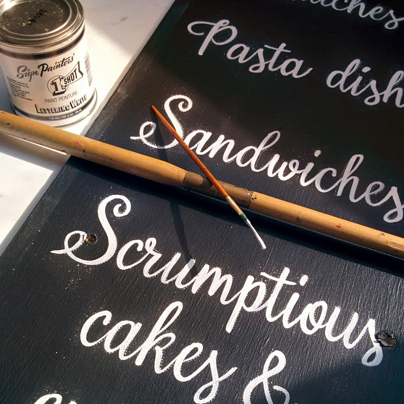 Cafe Script Sign Writing