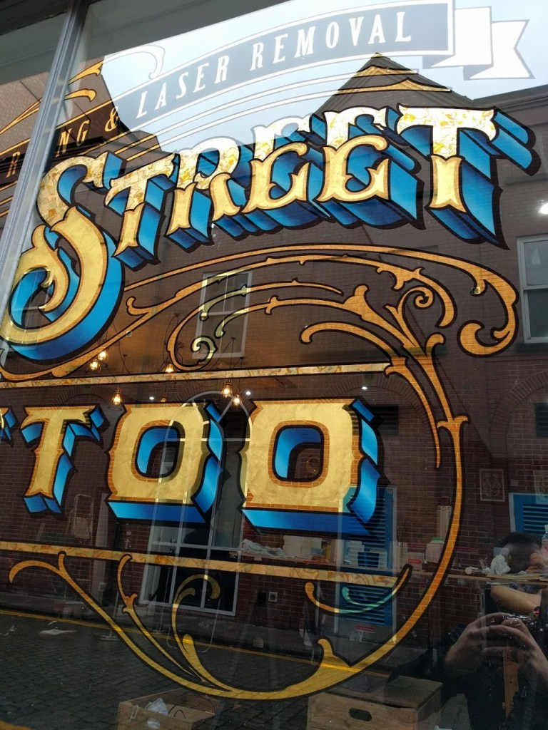 Queen Street Tattoo Gold Leaf Sign Hull