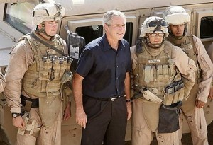 president-bush-with-troops