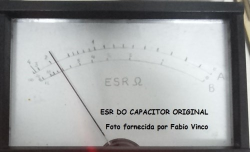 ESR do capacitor defeituoso