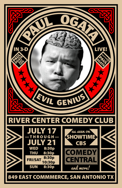 Ogata at Rivercenter Comedy Club, July 17-21