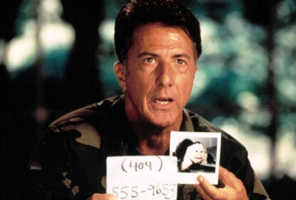 Dustin Hoffman stopped Motaba. Can he do the same for Ebola? Not if he can't recognize a fake phone number when he sees it.