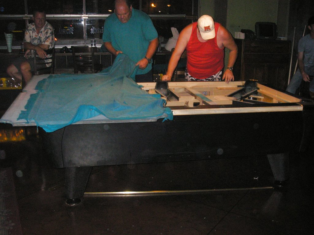 What I Did Last Night Watched A Pool Table Get Taken Apart Paul - Taking apart a pool table
