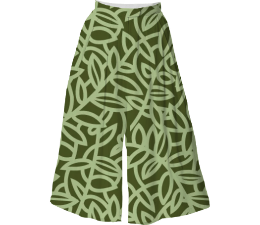 Paul S OConnor Leafy Greens Patern Textiles Culottes