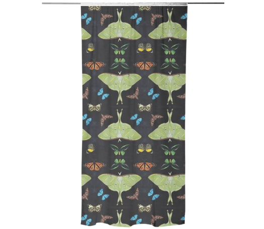 Paul S OConnor Midnight Moths Textile Print Pattern Curtains