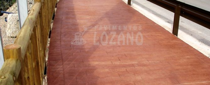 Hormigón Impreso - Pavimentos Lozano Casares Málaga