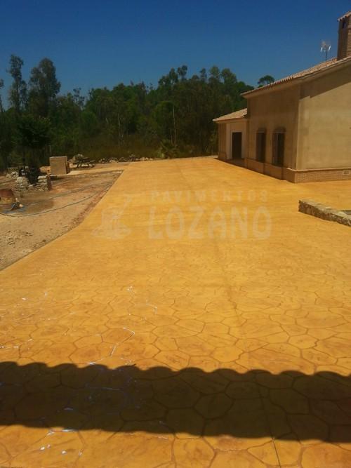 hormigon impreso piedra mallorquina pavimentos lozano