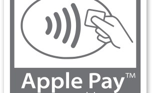 Apple Pay Logo against a contactless acceptance mark