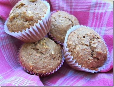 oatmeal banana flax muffin