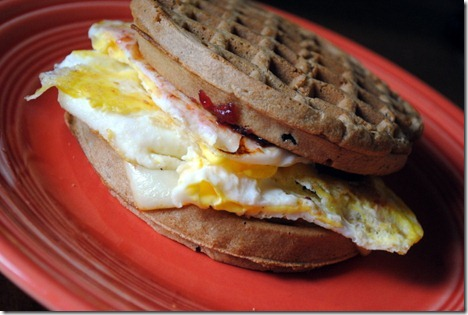waffle breakfast sandwich 055