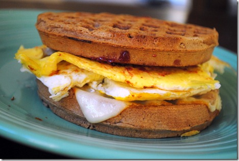 waffle egg cheese sandwich