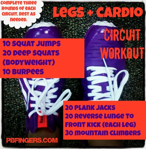 legs and cardio workout