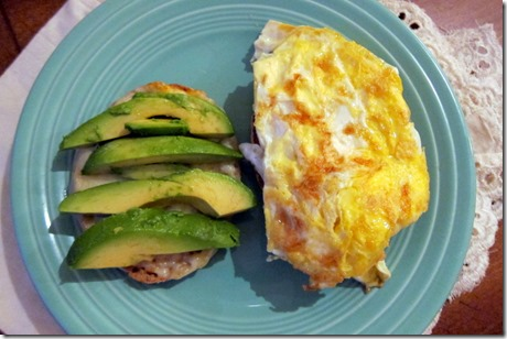 avocado and egg breakfast sandwich