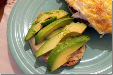 avocado slices sandwich