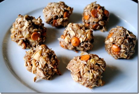 Butterscotch Banana Bread Oatmeal Bites