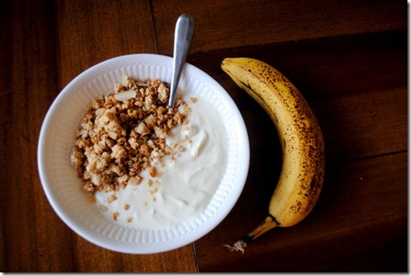 yogurt granola banana