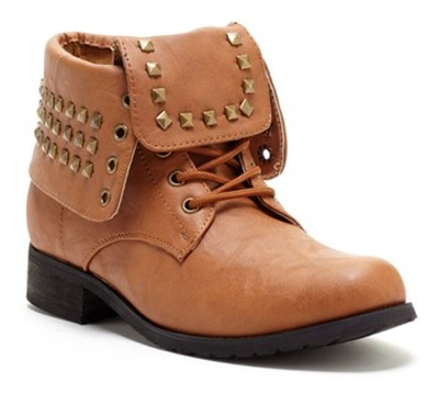Carrini Studded Military Cuff Boot
