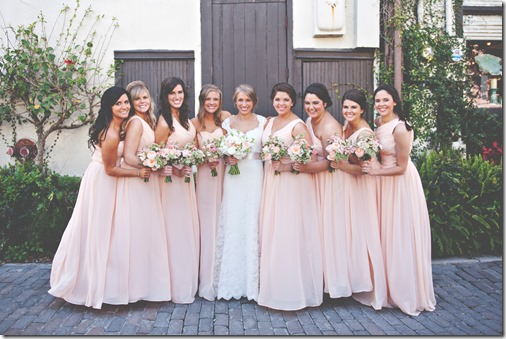 Long Peach Bridesmaid Dresses (2)
