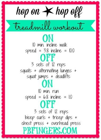 Hop On Hop Off Treadmill Workout