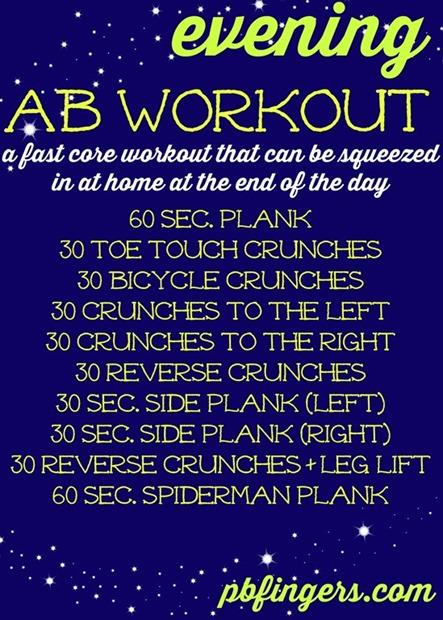 Evening Ab Workout