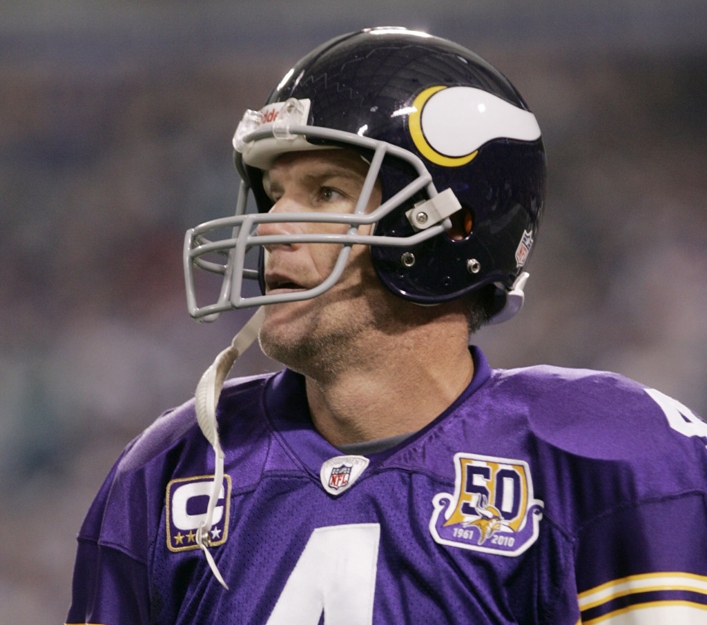 brett favre god only knows the toll from nfl concussions 19 2010 file photo minnesota vikings quarterback brett favre walks to the sideline after throwing an interception against the miami dolphins during an