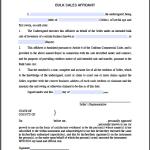 Bulk Sales Affidavit Form