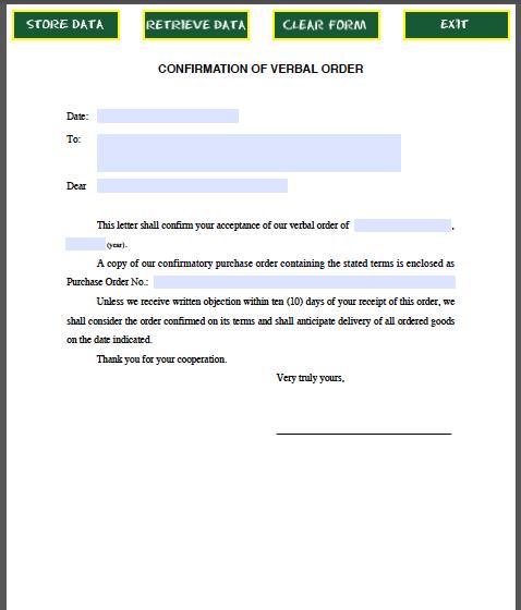 Confirmation-Letter-Verbal-Order