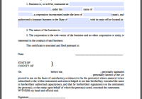 Corporation Certificate Template