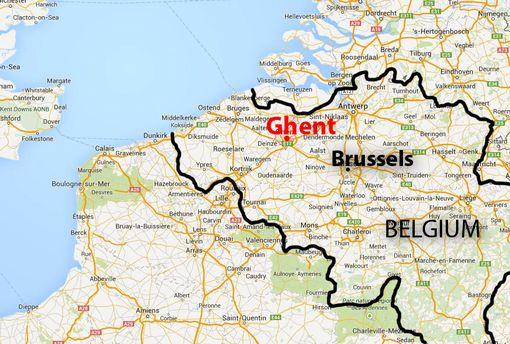 map gent